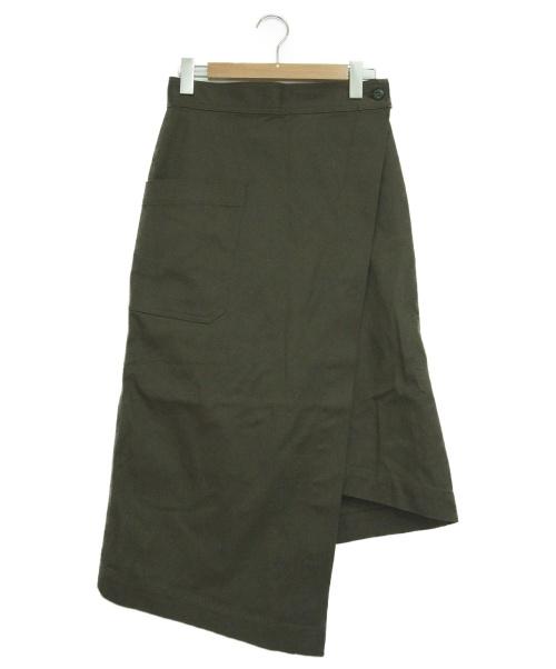 HYKE(ハイク)HYKE (ハイク) ラップスカート オリーブ サイズ:2の古着・服飾アイテム