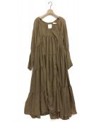()の古着「アシンメトリードレス」|ベージュ