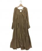 R JUBILEE()の古着「アシンメトリードレス」|ベージュ