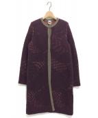MISSONI(ミッソーニ)の古着「ロングカーディガン」|パープル