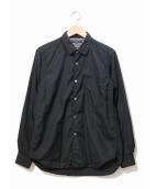 COMME des GARCONS HOMME(コムデギャルソンオム)の古着「チェーンステッチシャツ」|ブラック