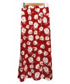 martinique(マルティニーク)の古着「クラシカルフラワープリントロングスカート」|レッド
