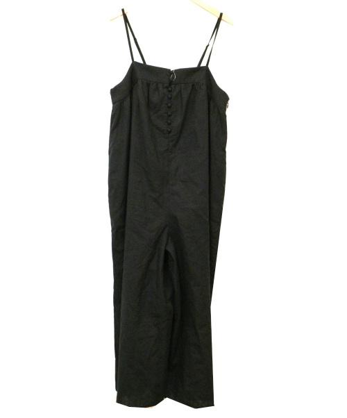SLOBE IENA(スローブ イエナ)SLOBE IENA (イエナスローブ) リネンボイルギャザーサロペットパンツ ブラック サイズ:F 未使用品 日本製の古着・服飾アイテム
