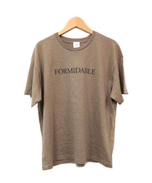 IENA(イエナ)IENA (イエナ) FORMIDABLEロゴプリントTシャツ ブラウン サイズ:記載なし 日本製の古着・服飾アイテム