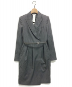 MaxMara(マックスマーラ)の古着「MARTIN WOOL TWILL DRESS」|グレー