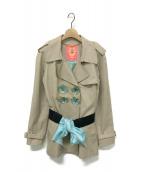 MANOUSH(マヌーシュ)の古着「ショートトレンチコート」|ベージュ