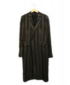 ANN DEMEULEMEESTER(アンドゥムルメステール)の古着「チェスターコート」|ブラック×グレー
