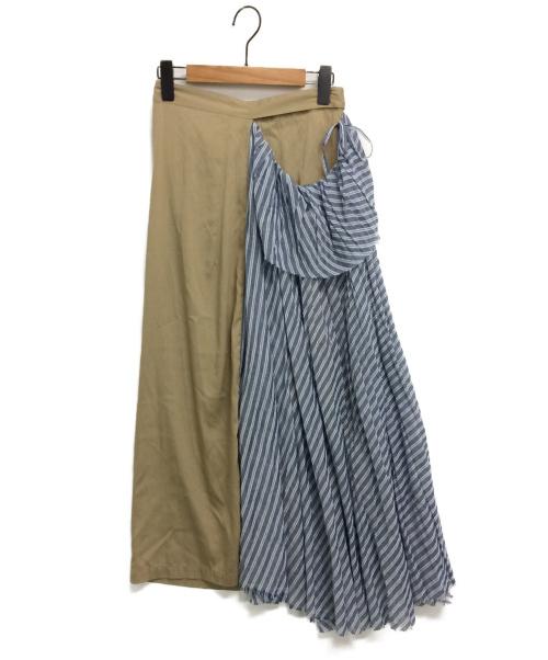 Y's(ワイズ)Y's (ワイズ) ドッキングラップスカート ベージュ サイズ:1の古着・服飾アイテム