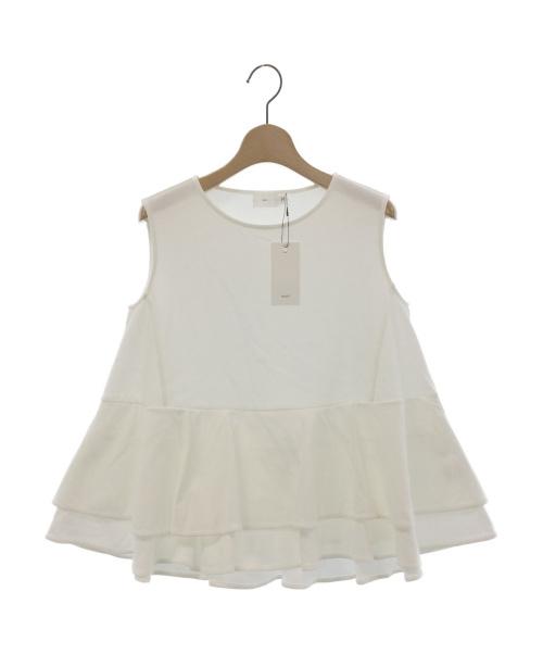 YORI(ヨリ)yori (ヨリ) ダブルフレアカットソー ホワイト サイズ:F 未使用品の古着・服飾アイテム