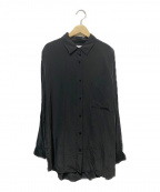 EVERYDAY I LIKE(エヴリデイ アイ ライク)の古着「Ry/si オーバーサイズシャツ」 ブラック