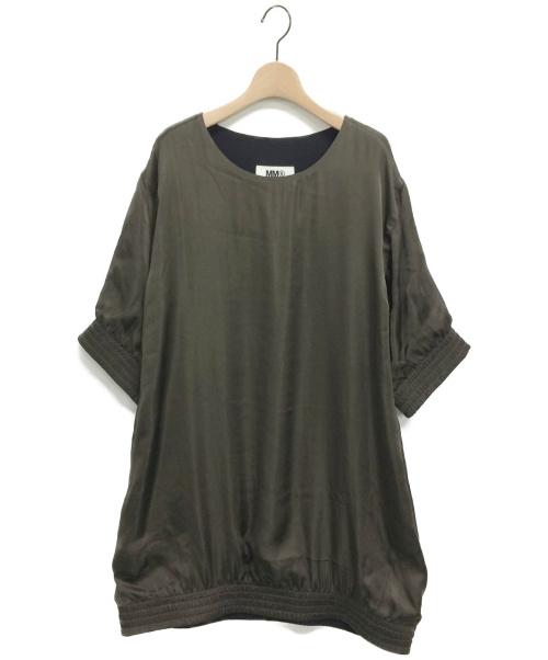 MM6 Maison Margiela(エムエムシックス メゾンマルジェラ)MM6 Maison Margiela (エムエムシックス メゾンマルジェラ) サテンチュニックドレス オリーブ サイズ:M 未使用品の古着・服飾アイテム