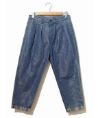 tricot COMME des GARCONS(トリコ コムデギャルソン)の古着「シャイニータックパンツ」 ブルー