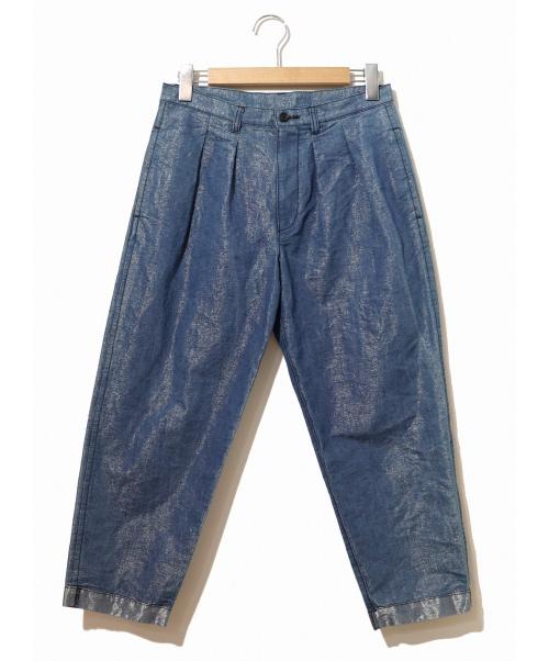 tricot COMME des GARCONS(トリココムデギャルソン)tricot COMME des GARCONS (トリコ コムデギャルソン) シャイニータックパンツ ブルー サイズ:S TA-P008 AD2017の古着・服飾アイテム