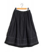 tricot COMME des GARCONS(トリコ コムデギャルソン)の古着「スウェットデニムスカート」|ネイビー