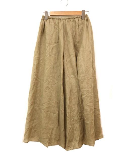 Plage(プラージュ)Plage (プラージュ) リネンギャザーマキシスカート ベージュ サイズ:36 日本製の古着・服飾アイテム