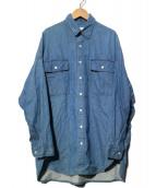 ARGUE(アギュー)の古着「VINTAGE DEFORMED DENIM デニムシャツ」|ブルー