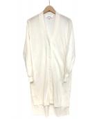 ENFOLD(エンフォルド)の古着「ロングカーディガン」|ホワイト