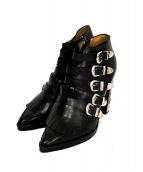 TOGA PULLA(トーガ プルラ)の古着「バックルディテールアンクルブーツ」|ブラック