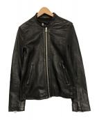 HARE(ハレ)の古着「シングルライダースシープスキンジャケット」|ブラック
