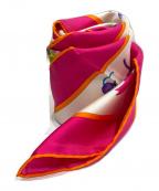 Salvatore Ferragamo(サルヴァトーレ フェラガモ)の古着「シルクスカーフ」|ピンク