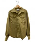 HYKE(ハイク)の古着「ミリタリーシャツ」|オリーブ