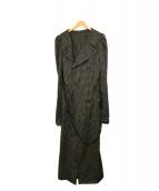 MASAKI MATSUSHIMA(マサキマツシマ)の古着「ロングコート」|ブラック