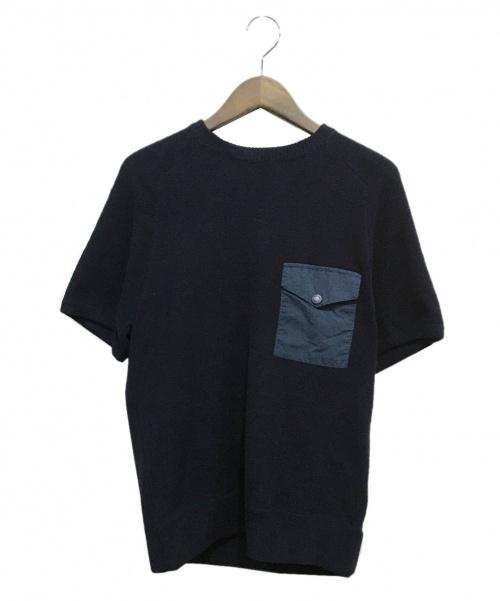 THE NORTHFACE PURPLELABEL(ザノースフェイスパープルレーベル)THE NORTHFACE PURPLELABEL (ザノースフェイスパープルレーベル) スウェットTシャツ ネイビー サイズ:Sの古着・服飾アイテム