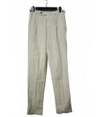 BERWICH(ベルウィッチ)の古着「BtoBヘリンボーン 1プリーツ サイドアジャスター パンツ」|ホワイト