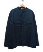 KABEL(カベル)の古着「リネンツイルシャツジャケット」|ネイビー