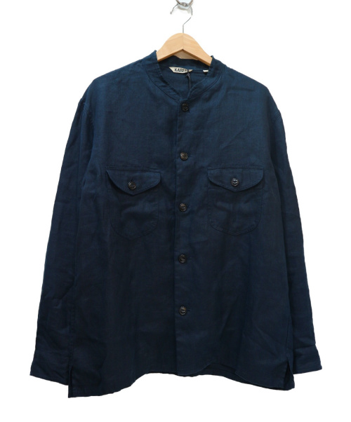 KABEL(カベル)KABEL (カベル) リネンツイルシャツジャケット ネイビー サイズ:2の古着・服飾アイテム