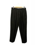 CellarDoor(セラードアー)の古着「2タックスラックス」|ブラック