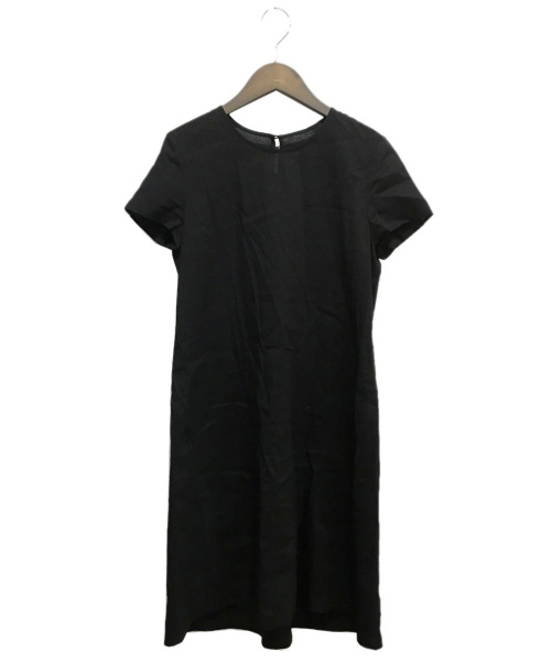 theory(セオリー)theory (セオリー) リネン混ブラウスワンピース ブラック サイズ:2の古着・服飾アイテム