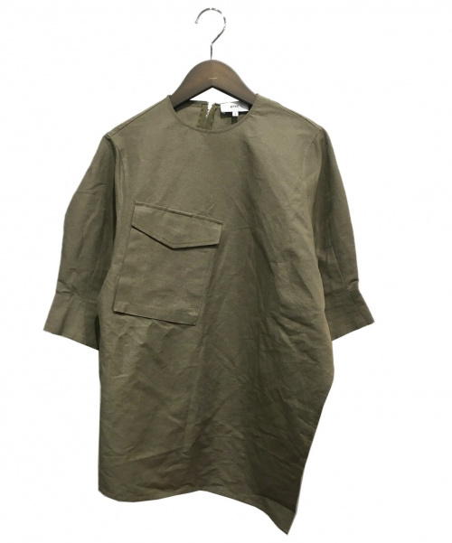 HYKE(ハイク)HYKE (ハイク) コットンリネンブラウス オリーブ サイズ:1の古着・服飾アイテム