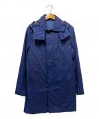 KATHARINE HAMNETT(キャサリンハムネット)の古着「フーデッドコート」 ネイビー