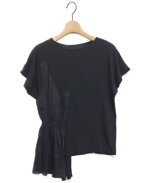 MM6 Maison Margiela(エムエムシックス メゾンマルジェラ)MM6 Maison Margiela (エムエムシックス メゾンマルジェラ) アシンメトリーブラウス ブラック サイズ:38の古着・服飾アイテム