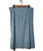 INDIVI(インディヴィ)の古着「ジャカードレースタイトスカート」|ブルー