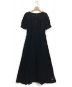 FRAY ID(フレイアイディー)の古着「アイレット刺繍ドレス」|ブラック