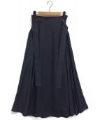 SNIDEL(スナイデル)の古着「スイッチングスカート」|ネイビー