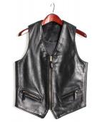 Langlitz Leathers(ラングリッツレザーズ)の古着「レザーベスト」|ブラック