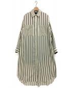Rito(リト)の古着「ダブルレイヤードロングシャツ」|アイボリー