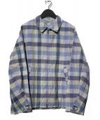 KAPTAIN SUNSHINE(キャプテン サンシャイン)の古着「ZIP UP JACKET ジップアップジャケット」|ブルー×ホワイト