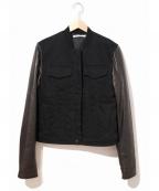 T by ALEXANDER WANG(ティーバイアレキサンダーワン)の古着「コットンキャンバスツイルジーンズジャケット」|ブラック