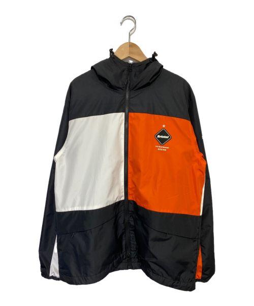F.C.R.B.(エフシーレアルブリストル)F.C.R.B. (エフシーレアルブリストル) COLOR BLOCK SEPARATE PRACTICE  オレンジ×ブラック サイズ:Lの古着・服飾アイテム