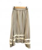 ROBE DE CHAMBRE COMME DES GARC(ローブドシャンブル コムデギャルソン)の古着「[OLD]ティアードデザインスカート」 ベージュ