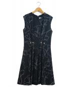 CARVEN(カルヴェン)の古着「ノースリーブワンピース」|ブラック