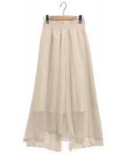 ETRE TOKYO(エトレトウキョウ)の古着「デザインロングスカート」|ベージュ