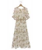 Vicente(ヴィセンテ)の古着「Embroidery バックオープンドレス」|ホワイト