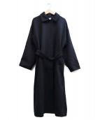 kagure(カグレ)の古着「ウールバルマカンコート」|ネイビー
