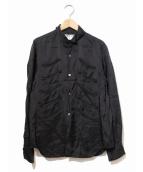 COMMEdesGARCONS COMMEdesGARCONS(コムデギャルソン コムデギャルソン)の古着「オリエンタルポケットキュプラシャツ」|ブラック