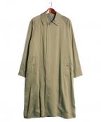 blurhms(ブラームス)の古着「キュプラコットンステンカラーコート」 ベージュ